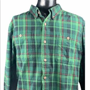 DULUTH TRADING CO BUTTON DOWN FLANNEL PLAID